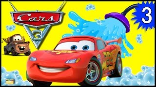 Cars 3 Lightning McQueen CAR WASH GAME for Kids w/ Surprise Toys from Disney Pixar Cars 3 Movie