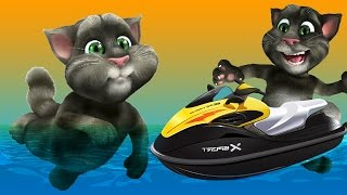 Talking Tom Jetski Colors Compilation - Nursery Rhymes Learn Colors KIDS TODDLERS BABY CHILDREN