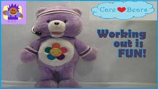 2004 Care Bear Fun N' Fit Harmony excerize bear toy By TCFC