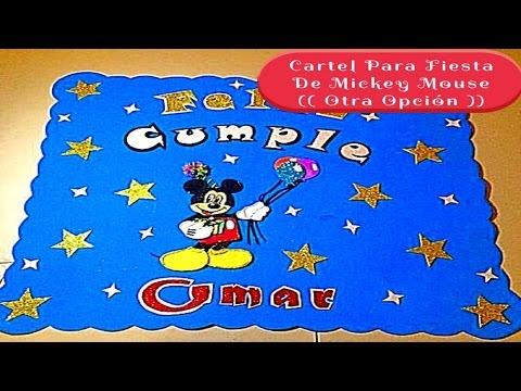 Cartel Para Fiesta De Mickey Mouse Otra Opción