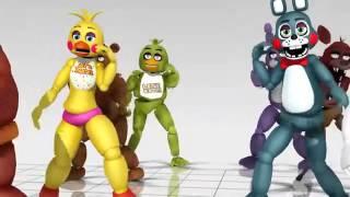 FNF bailando con sus amigos