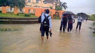 Phailin attacked on  C V Raman College of engineering in BHUBANESWAR, all around is water only