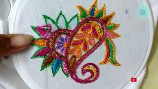 How to Wine Stitch Hand Embroidery | Mochi Stitch