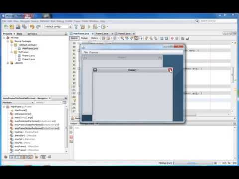 Create MDI Form with Netbeans