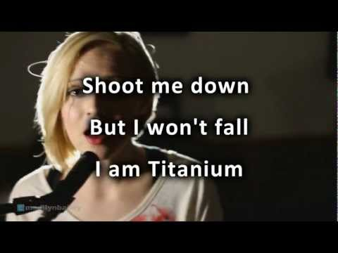David Guetta Titanium ft Sia cover by Madilyn Bailey with lyrics HD