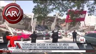 Eugenio Siller graba imágenes del terremoto en México | Al Rojo Vivo | Telemundo
