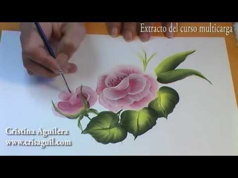 Curso pintura muticarga pintar rosas Painting roses