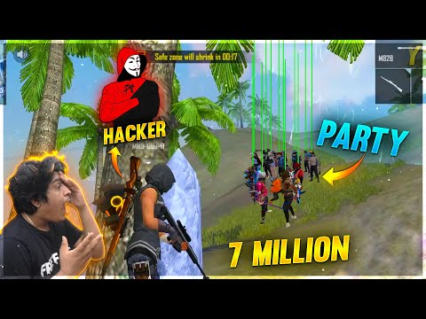 7 Million Party Biggest Meetup in Ranked Messed by Hacker 41 Kills Garena Free Fire