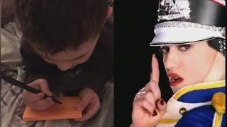 5-Year-Old Boy Writes First Word After Memorizing Lyrics From 'Hollaback Girl'