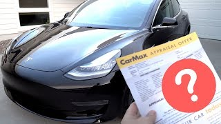 Taking My Tesla Model 3 to CarMax - Guess How Much They Offered?