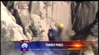 Naked woman, 27, rescued by lifeguards on cliffs trying to reach San Diego nudist beach.mp4