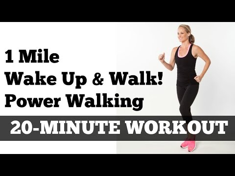 1 Mile Walk Fast Low Impact Indoor Power Walking Workout Wake Up and Walk