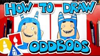 How To Draw Oddbods Pogo The Blue One