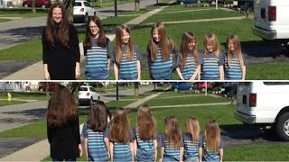Mom and six sons donated 17 feet of hair for children with cancer