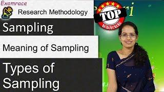 Sampling & its 8 Types: Research Methodology