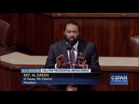 Rep. Al Green D TX calls for Impeachment of President Trump C SPAN