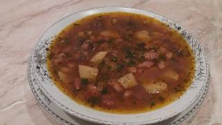Bol Proteyinli Qırmızı lobya supu resepti. Суп из Красной Фасоли. Kuru fasulye corbasi tarifi
