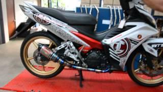AHM exhaust with Yamaha LC5s TITANIUM SPR