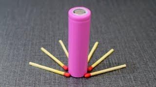 Match Fire Tricks Using Power Bank Battery - Emergency Lighter
