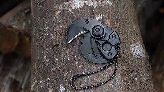 Mini Portable Coin Folding Knife Keychain EDC Outdoor Pocket Survival Tool