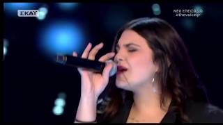 The Voice of Greece 4 - Blind Audition - NOBODY'S PERFECT - Eirilena Mpampionitaki