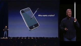Stylus (Steve Jobs) vs Apple Pencil (Phil Schiller)