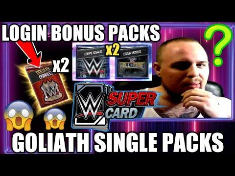 Xxx Mp4 GOLIATH SINGLE BP PACKS OPENED GOLIATH GRAB BAG TICKET PACK PLUS LOGIN BONUSES WWE SuperCard S4 3gp Sex