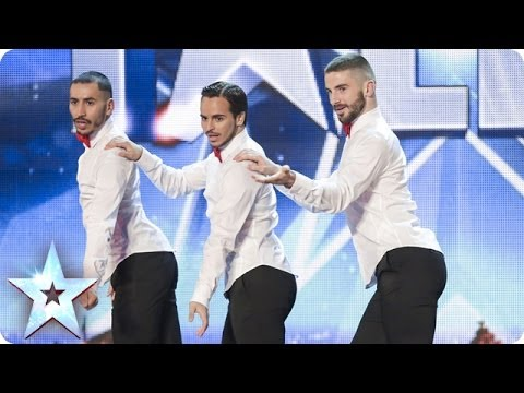 Yanis Marshall Arnaud and Mehdi in their high heels spice up the stage Britain s Got Talent 2014