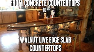 How to install a Live Edge Slab Countertop