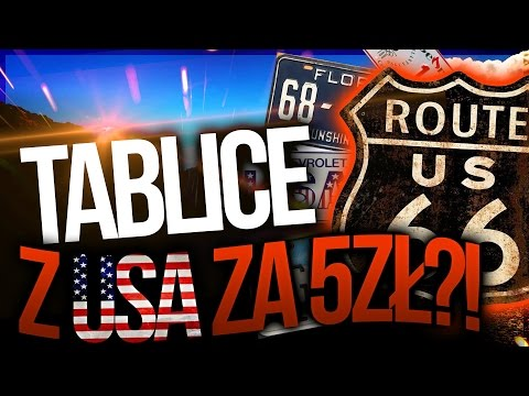 watch TABLICE REJESTRACYJNE z USA za 5zł?!