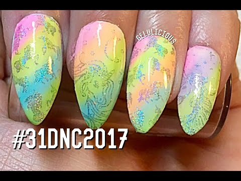 Xxx Mp4 Day 19 Unicorn Nails 31 Day Nail Challenge 2017 3gp Sex