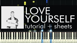 Love Yourself - Piano Tutorial - How to Play - Justin Bieber