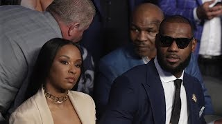 LeBron James PISSES OFF Mike Tyson During Mayweather-McGregor Fight