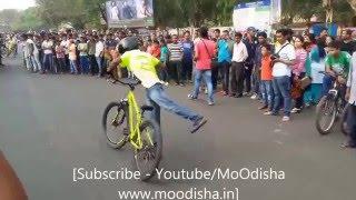 Amazing Cycle Stunts in Raahgiri Day Bhubaneswar