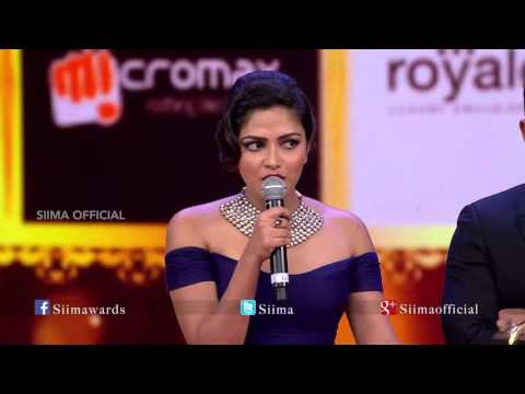 Micromax Siima 2015 | Best Actress (Critics) Tamil | Amala Paul