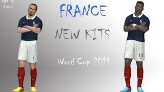 France New Kits Home WORLD CUP 2014 HD - Pes 2014