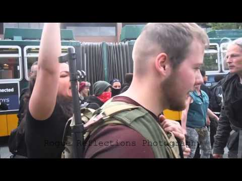 watch Seattle May Day 2015: Man Exercising 2nd Amendment
