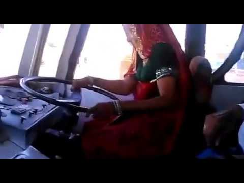 Indian women bus Driver in Rajasthan