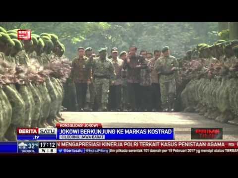 Presiden Jokowi Disambut Yel-Yel Prajurit Kostrad