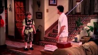 Two and a Half Men - Charlie Takes Jake to School [HD]