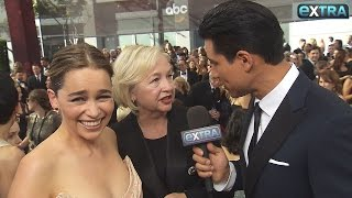 Emilia Clarke Jokes That Emmys Dress Wouldn