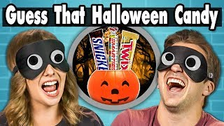 GUESS THAT HALLOWEEN CANDY CHALLENGE!   COLLEGE KIDS vs. FOOD
