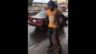 Azonto dance on skates