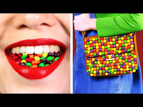 SNEAK SNACKS INTO THE MOVIES Funny Ways to Sneak Candies & 100 LAYERS of Food by Kaboom
