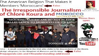 Slanderous journalism of Moroccan World News Concerning Moorish Americans