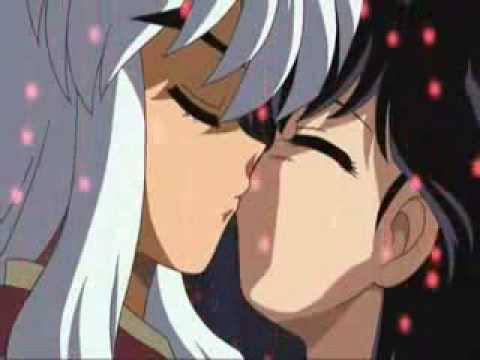Inuyasha y Kagome el primer beso