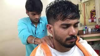 ASMR Indian Barber Head Massage With Neck Cracking