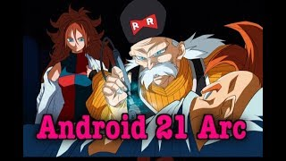 Dragon Ball Fighterz Movie | Android 21 Arc | All Cut Scenes