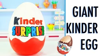 GIANT Kinder Surprise Egg - How To Make a GIANT KINDER Smash Cake