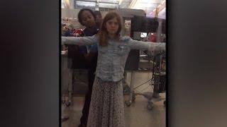 10-Year-Old Girl Upset Over TSA Agent Pat Down: